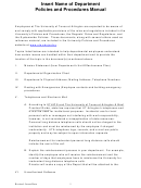 Policies And Procedures Manual Template (sample)