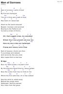 Man Of Sorrows Hillsong (key Of F) Chord Chart
