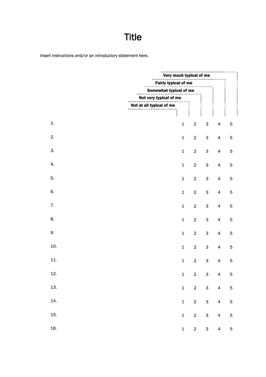 Likert Scale Template | Top Likert Scale Templates Free To Download In Pdf Format
