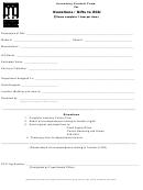 Inventory Control Form