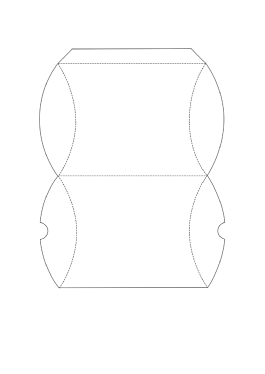 Pillow Box Template Printable pdf