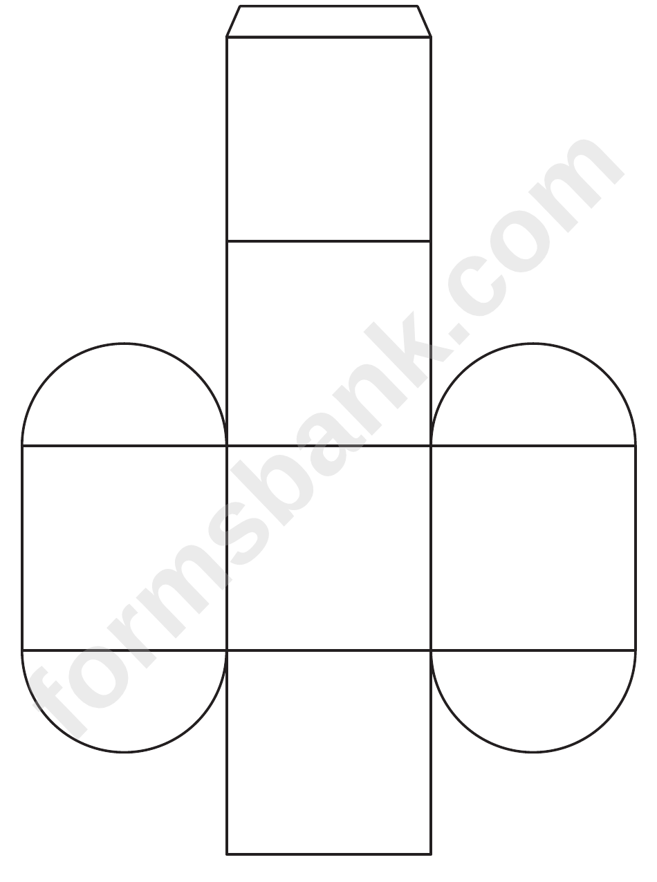 rectangle box template printable pdf download