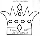 Happy 100th Day Of School Crown Template