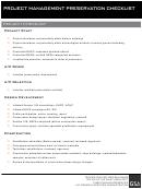 Project Management Preservation Checklist