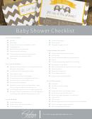 Baby Shower Checklist