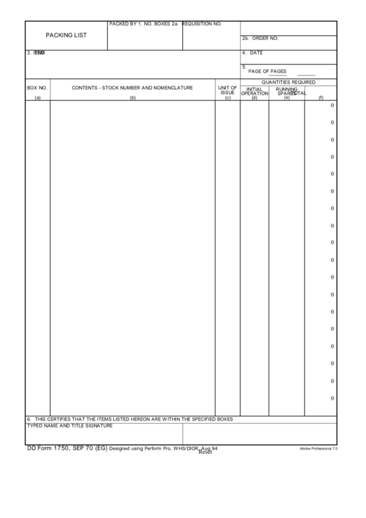 fillable dd form 1750