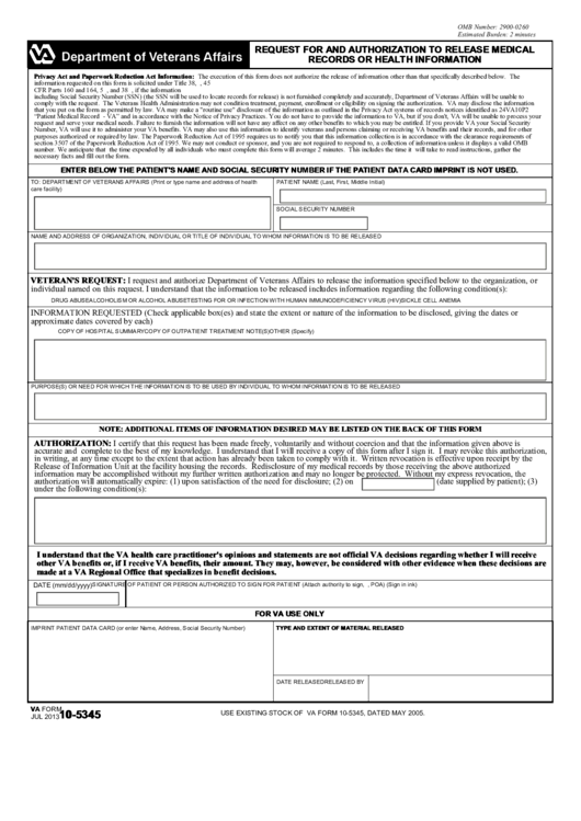 Top Va Form 10-5345 Templates free to download in PDF, Word and ...