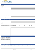 Customer Project Sign-off Form - Provideo