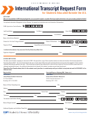 International Transcript Request Form For Students Educated Outside The U.s.