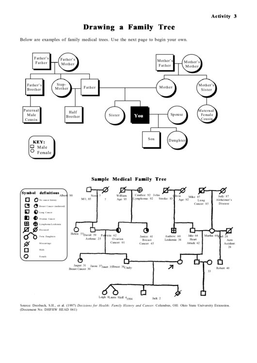Drawing A Family Tree - Instructions Printable pdf