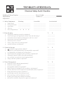 Chemical Safety Audit Checklist