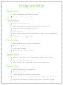 Birthday Party Checklist Template With Notes