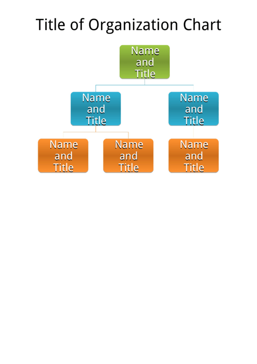 Basic Organization Chart - Multi-Level Chart Template Printable pdf