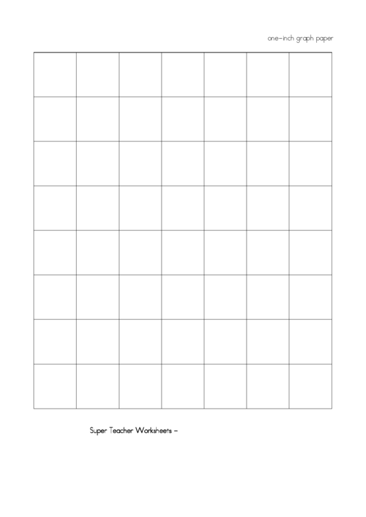 One-Inch Graph Paper Printable pdf