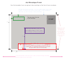 A-2 Envelope Front & Back Template