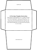 A2 Envelope Template B/w