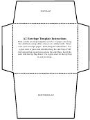 A2 Envelope Template B/w