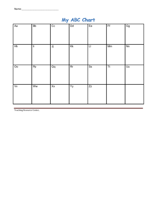 My Abc Chart Template