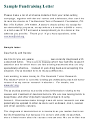 Sample Fundraising Letter Template