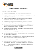 Sample Thank You Note Templates