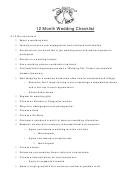 12 Month Wedding Checklist