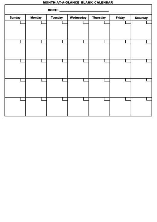 Month at a glance blank calendar template printable pdf download month at a glance blank calendar template pronofoot35fo Choice Image