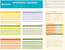 January-june 2016 Attendance Calendar Template