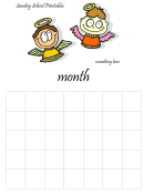 Blank Monthly School Calendar Template