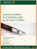 Sample Letter Accepting Offer