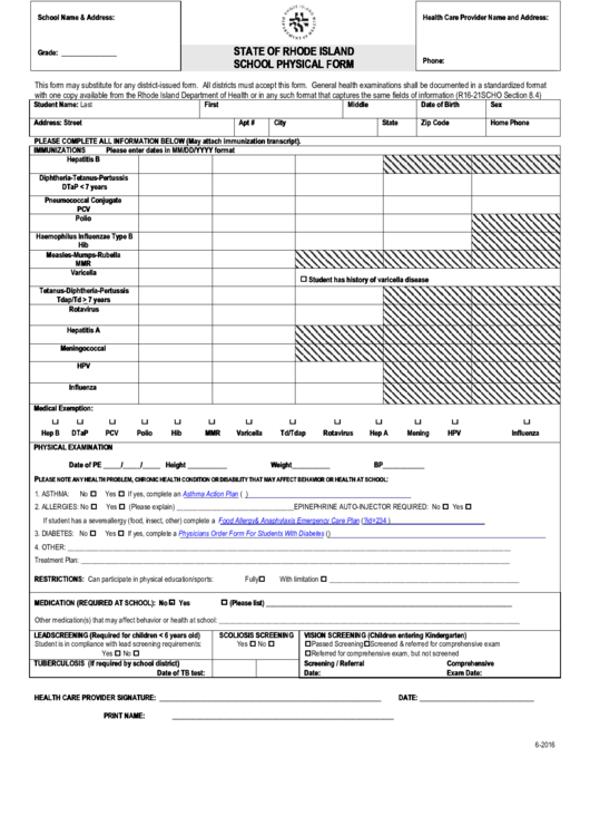 47 Physical Form For School Templates free to download in PDF ...