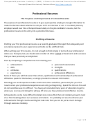 Professional Resume Outline With Instructions