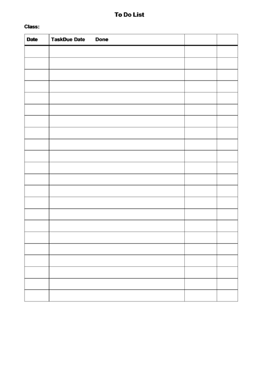 To Do List With Instructions Printable pdf