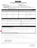 Paychex Direct Deposit Enrollment/change Form
