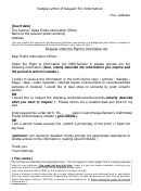 Sample Letter Of Request For Information Template