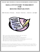 Skills Inventory Worksheet For Resume Preparation