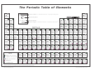 The Periodic Table Of Elements Chart (black And White)
