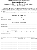 Sba Business Plan Executive Summary Template