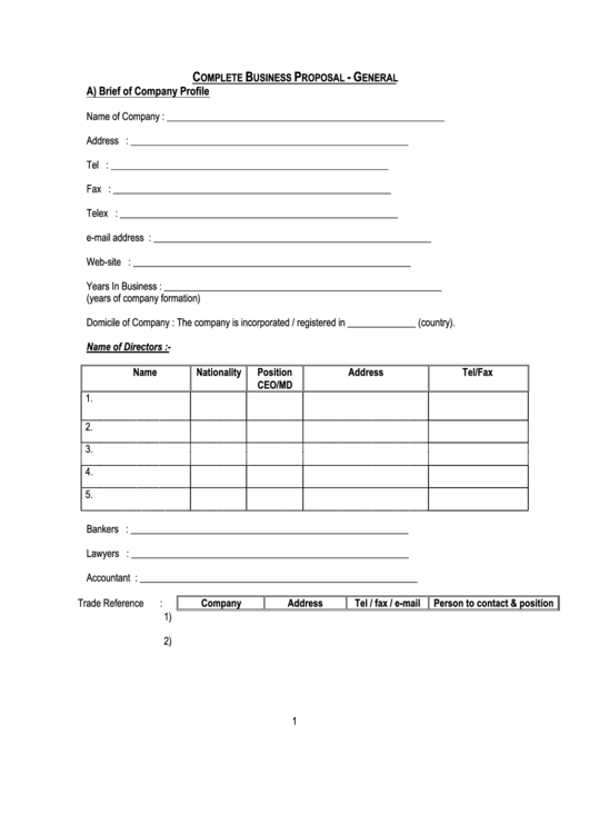 Complete Business Proposal Template