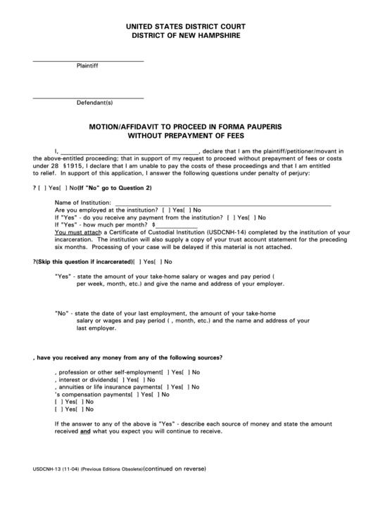 35 New Hampshire Court Forms And Templates free to download in PDF