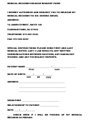 Medical Records Release Request Form