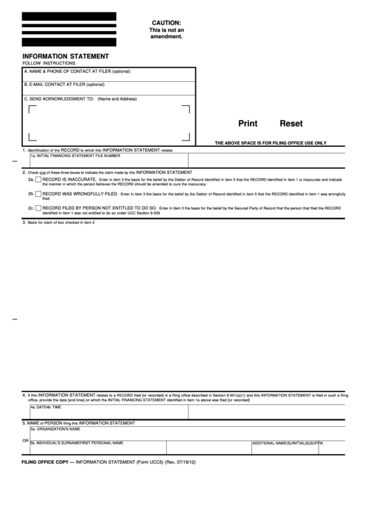 70 Ucc Form Templates Free To Download In Pdf
