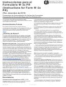 Instrucciones Para El Formulario W-3c Pr (instructions For Form W-3c Pr) - Rev. Diciembre De 2015
