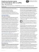Instrucciones Para El Formulario 941-x (pr) - Ajuste A La Declaracion Federal Trimestral Del Patrono O Reclamacion De Reembolso - 2015