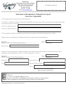 Statement Of Resignation Of Registered Agent Successor Appointed - Wyoming Secretary Of State