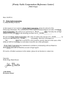 Sample Bank Reference Letter Template