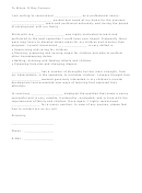 Nanny Letter Of Recommendation Template