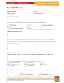 Research Plan / Proposal