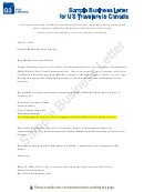 Sample Business Letter For Us Travelers To Canada Template