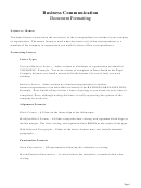 Sample Business Letters Template