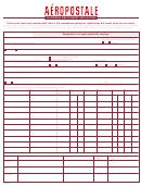 Aeropostale Employment Application Form